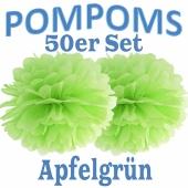 Pompoms Apfelgrün, 50 Stück