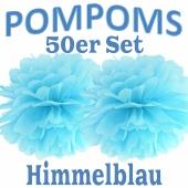Pompoms Himmelblau, 50 Stück