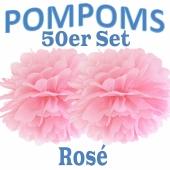 Pompoms Rosé, 50 Stück