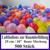 Luftballons zur Raumbefüllung, 500 Stück, bunte Mischung
