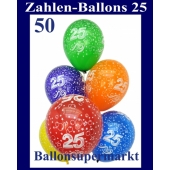 """Luftballons, Latexballons 50 Stück """"25"""""""