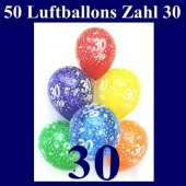 50 Luftballons Zahl 30