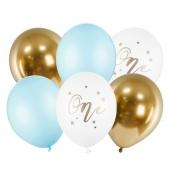 Luftballons zum 1. Geburtstag Junge, 6 Stück