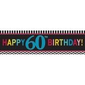 Riesen Geburtstagsbanner zum 60. Gebutstag