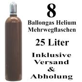 8 Ballongas Helium 25 Liter Flaschen
