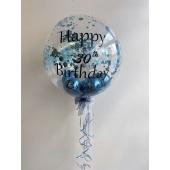 Bubbles Ballon mit Konfetti und Beschriftung