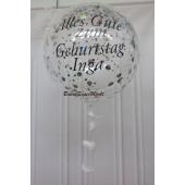Aqua Luftballon mit Beschriftung