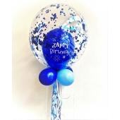 Bubbles Ballon Happy Birthday mit Konfetti