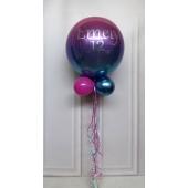Ombre Orbz Luftballon beschriftet