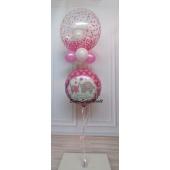Ballon-Bouquet mit Bubbles Luftballon Hurra ein Mädchen