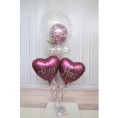 Ballon-Bouquet mit Beschriftung