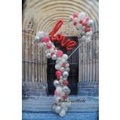 XXL - Herz zur Hochzeit organisch mit unterschiedlichen Ballongrößen