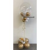 Ballon-Bouquet mit Bubbles Ballon in Gold