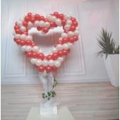Luftballon-Herz zur Hochzeit