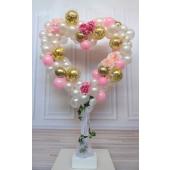 Organic Luftballon-Herz zur Hochzeit