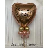 XL Folienballon Herz mit Beschriftung