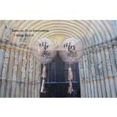 Aqua Luftballon zur Hochzeit Mr. & Mrs.