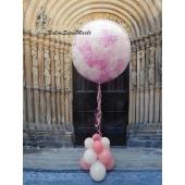 Plopp Ballon Rosa und Weiß