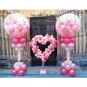 2 Explodierende Luftballons zur Hochzeit und Deko Herz