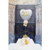 Tischdeko zur Goldenen Hochzeit