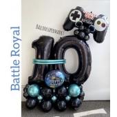 Luftballon-Deko-Battle Royal mit Game Controller