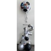 Deko mit Zahlen und Fußball Folienballon