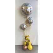 Luftballon-Deko- Kindergeburtstag mit fröhlicher Giraffe