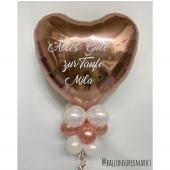 Folienballon mit Beschriftung zur Taufe