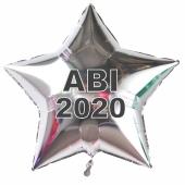 Abi 2020 silberner Stern-Luftballon aus Folie mit Helium Ballongas