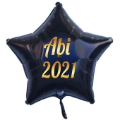 Abi 2021 Stern-Luftballon aus Folie mit Helium Ballongas
