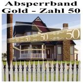 Absperrband Gold, Zahl 50
