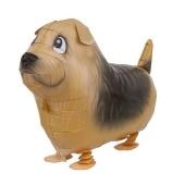 Airwalker Luftballon, Terrier, mit Helium laufender Tier-Ballon