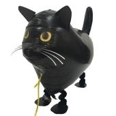 Airwalker-Ballon, schwarze Katze inklusive Helium