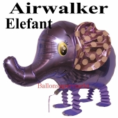 Airwalker Luftballon, Elefant, mit Helium laufender Tier-Ballon, neu