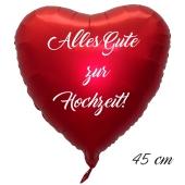 Alles Gute zur Hochzeit! 45 cm ohne Helium
