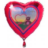 Alles Liebe, Luftballon aus Folie zum Valentinstag, inklusive Helium- Ballongas