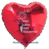 Alles Liebe zum Muttertag! Herzluftballon aus Folie