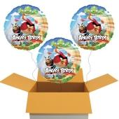 3 Angry Birds Luftballons, inklusive Helium-Ballongas