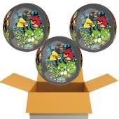 3 Angry Birds Orbz Luftballons aus Folie, inklusive Helium