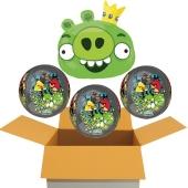 4 Angry Birds Orbz Luftballons aus Folie, inklusive Helium, 3 Orbz und 1 Shape