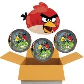 4 Angry Birds Orbz Luftballons aus Folie, inklusive Helium