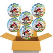 6 Angry Birds Luftballons, inklusive Helium-Ballongas