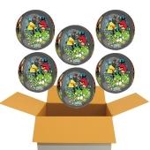 6 Angry Birds Orbz Luftballons aus Folie, inklusive Helium