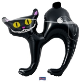 Aufblasbare Katze zu Halloween