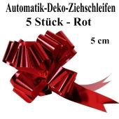 Automatik-Ziehschleifen, Rot glänzend, 5er Set