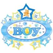 Großer Baby Boy Luftballon zu Taufe und Geburt eines Jungen