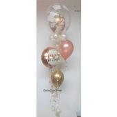 Geburtstags Ballon-Bouquet Birthday Metallic Dots