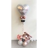 Ballon-Bouquet mit Zahlen Herzlichen Glückwunsch