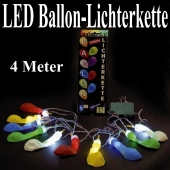 LED Ballon-Lichterkette, 4 Meter