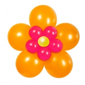 Ballon-Set Flower, Orange